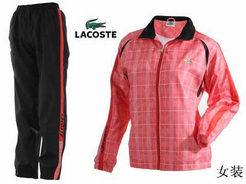 jogging lacoste rouge. Black Bedroom Furniture Sets. Home Design Ideas
